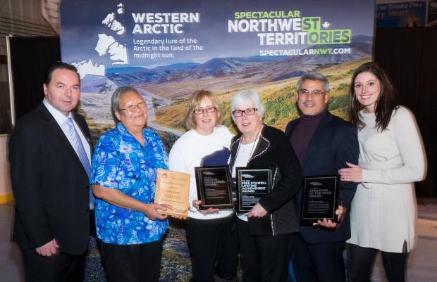 Minister Schumann, award winners, NWTT Chair