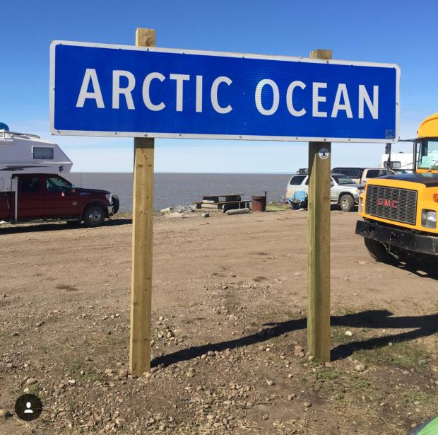 Arctic Ocean Sign In Tuktoyaktuk Visitor Information Centre