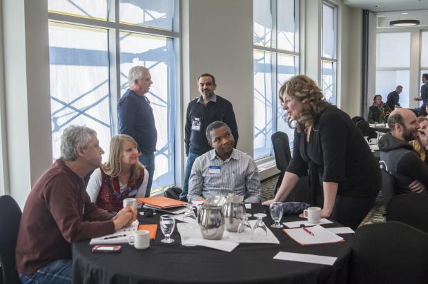 Geothermal Workshop Participants Talking