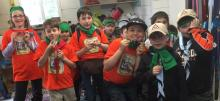 Yellowknife Cub Scouts with their fur woggles