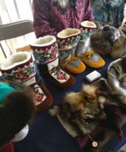 Mukluks on display at Sealebration event at Long John Jamboree 2019