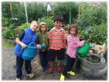 Kids Gardening in the Beaufort Delta