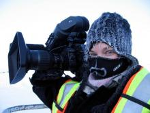 Filmmaker at Work in the Elements