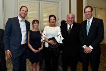 (L-R) Kimi Balsillie, Kelly Lafferty-Norn, Rob Bates and Jean-Francois Dufour attend the Diamond Empowerment Fund Diamonds Do Good's 2018