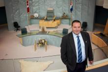 Minister SChumann in NWT Legislature