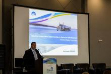 Wally Schumann speaks on importance of Indigenous business at Arctic Indigenous Investment conference