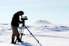 Pat Kane Photo, Camera Person Filming in Arctic