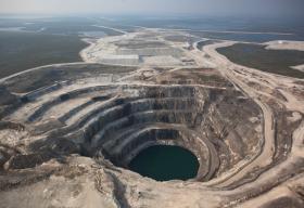 Aerial Photo of Ekati Mine
