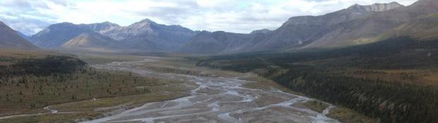 NTGS, Braided Stream in the Mackenzie Mountains