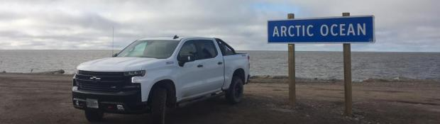 Chevrolet Media Launch Underway at Inuvik - Tuktoyaktuk Highway