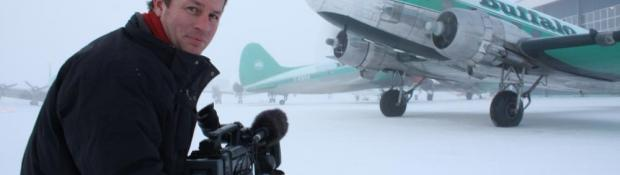 Filming on Scene of Ice Pilots NWT