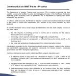 Consultation on NWT Parks - Process