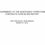 GNWT Contracts over $5000 Report - 2014-15
