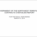 GNWT Contracts over $5000 Reports
